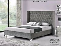 Wingback Bed Frame in ALL COLOURS & SIZES