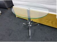 New Clear Glass Lamp/End Table