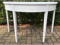 Stylish painted demi-lune table