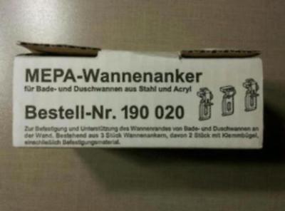Mepa Wannenanker Badewannenhalterung Duschwannenhalterun 3er - Set. NEU.