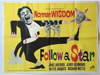 Follow a Star, UK Quad, Film/ Movie poster, 1959, Norman Wisdom
