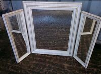 Vintage White & Gold Dressing Table Mirrors