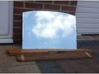 Vintage dressing table mirror with bevelled edge