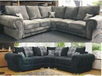 Brand New Large Verona Chesterfield L-Shape 5 Seater Corner/3+2 Seater Sofa Cash On Delivery