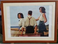 Jack Vettriano Print Mountd in a Wooden Frame with Glass