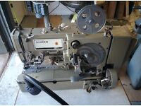 Singer 371U-4 Industrial Button hole machine 240 Volt Very light use. Foot operated.