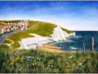 'Saltdean Cliffs' Signed Fine Art Print... Original Christmas Present!