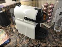 Nespresso Machine With Aerocino, Pod holder, 2 Nespresso cups and saucers