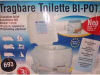 unused camping/caravaning toilet ,portable chemical toilet with hand flush