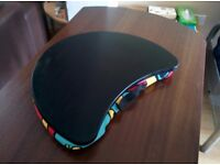 Laptop Knee Cushion, Abstract Design with Plastic Grippy Surface