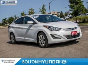 2016 Hyundai Elantra 34053 Km's. Off Lease. Power Group. A/C