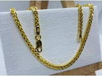 14K Solid Gold Square Franco Chain 20 Inch / 2.5MM Width 💷.