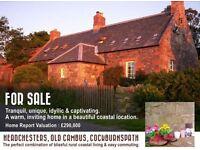 Detached coastal villa, Berwickshire. 3 bed 2 bath lounge outbuildings huge garden amazing sea views