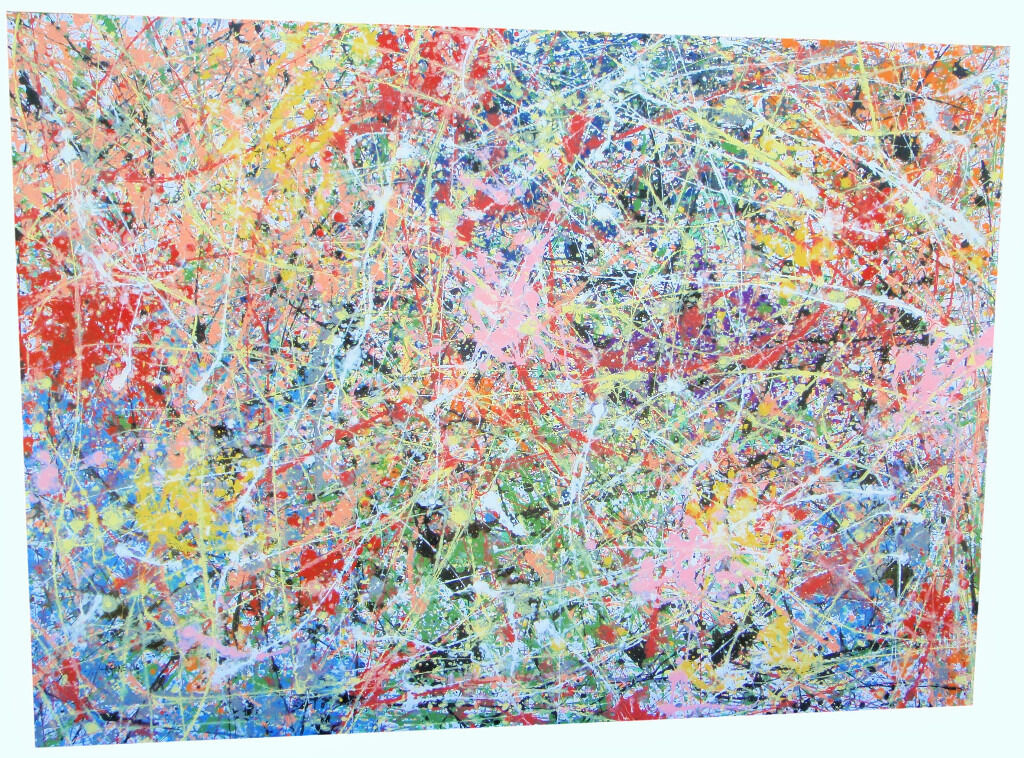 MODERN ART PAINTING ON VERY LARGE 1.5M CANVAS | Original Abstract ...