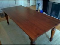 Large 8-10 seat solid pine Italian-made dining table