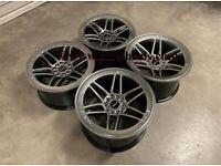 "18"" Inch Strom DS-25 Drift Alloy Wheels 5x114.3 Fits Nissan silvia skyline S14 S15 RX7 MX5 R32 R33"