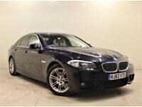 BMW 5 SERIES 2.0 520D M SPORT 4d 181 BHP + 2 PREV OWNER + SERVICE HISTORY (black) 2012