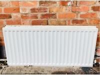 White Double Panel Radiator Central Heating Compact - 1200mm Wide x 600mm High