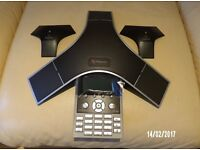 POLYCOM SOUND STATION IP7000 DUPLEX IP CONFERENCE PHONE & EXPANSION MICROPHONE NEW UNUSED ONLY £249