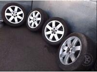 "Range Rover (2002-2009) 20"" 4 x Alloy Wheels + Tyres 255/50 R20 ref. AC27"