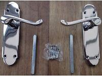 2x Zoo Pro Lever Latch Chrome Door Handles