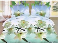 Wholesale Clearance Joblot: 50 x Floral 3d Double/King Complete Duvet Sets with Flat Sheet