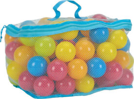 BALL PIT plus 2 x Chad Valley Bags of 100 Multi-Coloured Play Balls (200 balls)