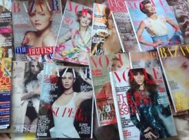 WOMEN FASHION MAGAZINES VOGUE,BAZAAR,HOMES&GARDEN 2013-2009 16x