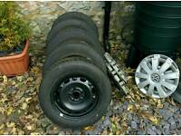 VW Polo (or similar) Winter Tyres with wheels