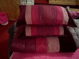 Throw and matching cushions