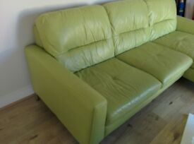 **SOLD** Sofa - Pistachio Green - Large 3 seater with L shape