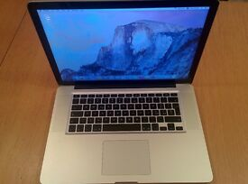Mac Book Pro 15 inch, 2.66 GHz Intel core i7, 8GB RAM, 500 HDD, Mid 2010