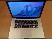 Mac Book Pro 15 inch, 2.66 GHz Intel core i7, 8GB RAM, 500 HDD, Mid 2010