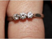 PLATINUM AND DIAMOND RING for sale £750. Retails at over £2500. Guaranteed true