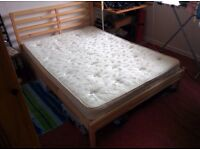 RARELY USED double bed (Frame and Mattress) for sale