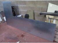 Galvanised Mild Steel Sheet, 1mm gauge, 2.5 x 1.25m, (1.82 x 0.63 removed)