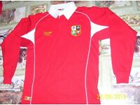 British Lions rugby jersey . Boys L or M . £2.50 each