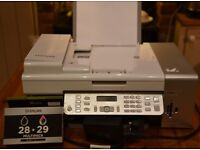 Printer, Copier, Scanner, Fax Machine. Lexmark. Plus new blk Ink cartridge & cd's