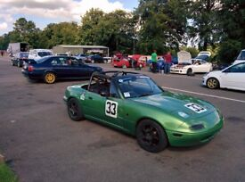 Mazda MX5 / Eunos Mk1 1.6 race car - raced in 2016 750mc championship