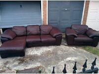 corner sofa + armchair bought for 3000, FREE DELIVERY, 800 ONO