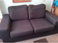 A Modern Dark Grey comfortable Two Seater Sofa
