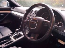 Gorgeous Audi A4 S-Line Convertible 2007 2.0 TDI, Silver, Leather Heated Seats
