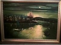 old oil on canvas painting