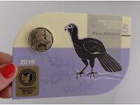 Peru 2018 Coin 1 Nuevo Sol PAVA ALIBLANCA UNC Wild Fauna Collection