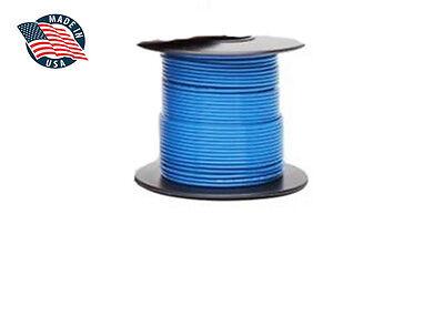 100ft Mil-spec High Temperature Wire Cable 22 Gauge Blue Tefzel M2275916-22-6