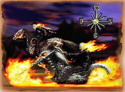 Ghost Rider wall clock (Grest Man Cave Clock)  Makes gr8 Gifts