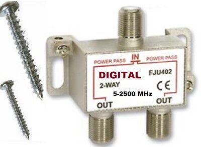 2.5 Ghz 2-WAY ANTENNA TV COMBINER SPLITTER DIGITAL HD/DTV OTA UHF VHF