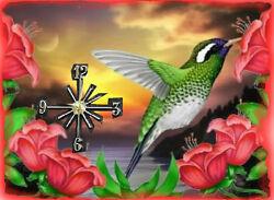 Humming Bird wall clock   They make great gifts Handmade