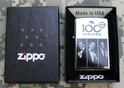 Zippo Frank Sinatra 100th Birthday Polished Chrome Windproof Lighter 28960