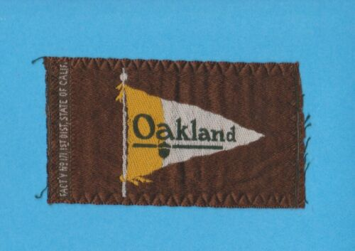 c1910 S100 Automobile Pennant Tobacco Silk - OAKLAND